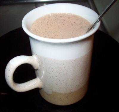 varm choklad med mandelmjölk